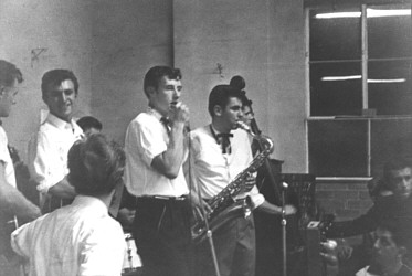 The Jaywoods at the Pascoe Vale RSL Hall in early 1960 - Johnny Chester at the vocal microphone